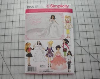 Simplicity Pattern #1955-Doll Clothes