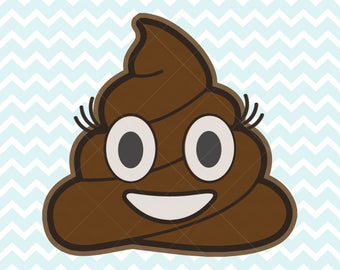 Poop Emoji SVG and PNG, Girl Poop Emoji, Poop Emoji Clipart, SVG Files, Commercial Use, Printable Poop Emoji