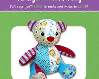 Melody the Memory Bear by Funky Friends Factorey - Paper Printed Pattern