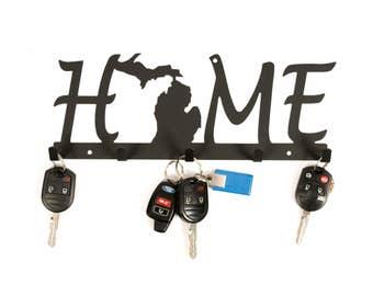 Michigan / Michigan Decor / Key Holder for Wall / Michigan Home Sign / Wall Key Holder / Michigan Sign / Michigan Key Holder / Michigan Gift