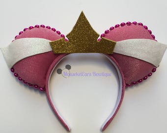 Sleeping Beauty Princess Aurora inspired Mouse Ears