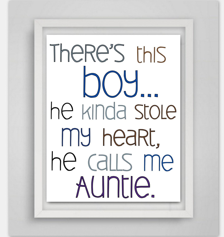 Jungen Kinderzimmer Dekor Geschenk für Tante Baby Boy