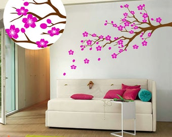 Cherry Blossom Wall Decal, Nursery Decoration, Cherry Blossom Branch, Girls Room Decor, Cherry Branch Wall Decals, Girl Wall Decals, ID702
