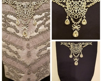 18th Century Stomacher Jewelry - Marie Antoinette Jewelry - Versailles - Georgian Paste - Bodice Jewelry - Madame P Stomacher