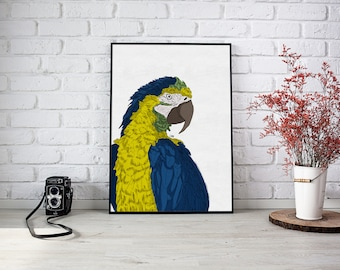 Jungle parrot - Poster - A3