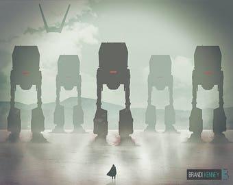 STAR WARS inspired Luke Skywalker poster - Luke's Legacy