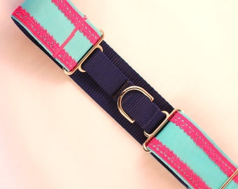 Dog Collar Pink Lace Martingale