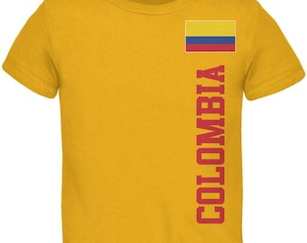 World Cup Colombia Yellow Toddler T-Shirt