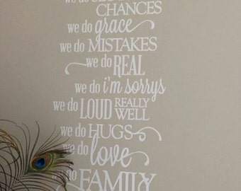 Vinyl Wall Quote, Family Rules, In This House, removable white matt vinyl, Wall Decor, Home Decor, inspirational, Mothers Day Gifts