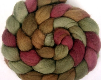 Handpainted Polwarth Wool Roving - 4 oz. CIDER HOUSE- Spinning Fiber