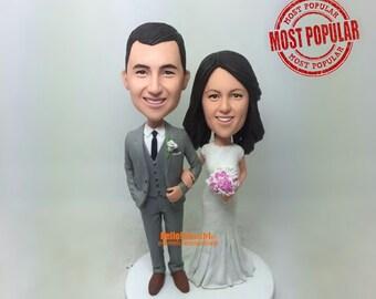 wedding topper Cake Toppers for wedding custom cake topper wedding bobblehead custom bobblehead cake topper wedding cake toppers - CT G0101