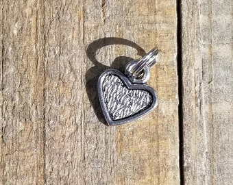 Antique Silver Small Heart 11mm Set of 10