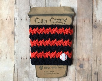 Houston Astros, Coffee Sleeve, Cup Cozy, Cup Holder, Coffee Cup Cozy, Cup Sleeve, Coffee Cozy, Coffee Cup Sleeve, Reusable Coffee Sleeve
