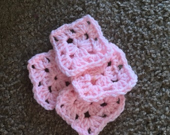 20 Pink , 2 1/2 inch granny squares