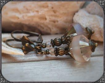 Earrings rosé-bronze