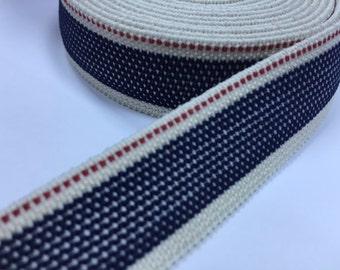 0.8 in Suspender Elastic, wholesale suspender elastic, elastic by the yard, elastic waistband, elastic band