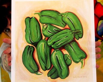 Padron Peppers Art Print 11x17 Poster Art by Surly Amy Davis Roth
