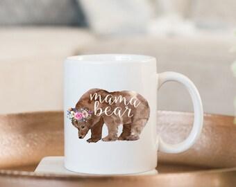 Mama Bear Mug, Mama Mug, New Mom Mug, Mom Mug, Mama Mug, Mother Mug, New Mom Gift, Custom Mug, Personalized Mug, Mama Gift, Gift for Mom