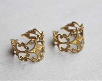 Brass Filigree Rings