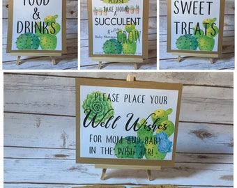 Succulent Themed Signs and Banner