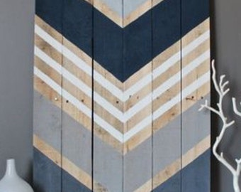Chevron pallet art