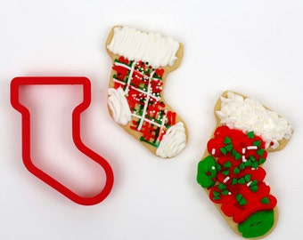 Christmas Stocking Cookie Cutter (2-cutter set)
