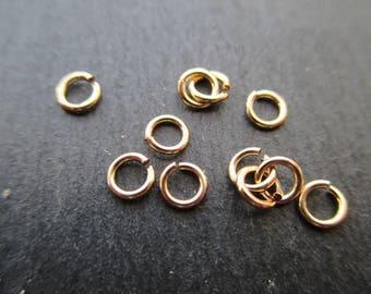 Rings open 4 mm * 0.7 mm 14 k gold filled * 1 set of 2.