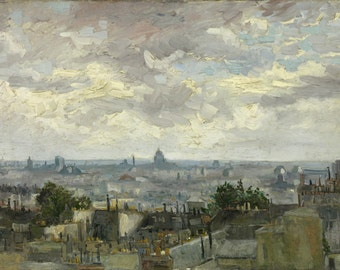 View Of Paris by Vincent Van Gogh, Giclee Canvas Print