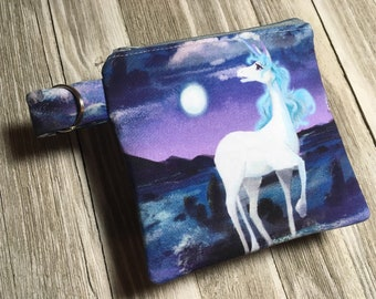The only Unicorn cash and change keeper,handmade zipper pouch,unicorn coin purse,unicorn zipper bag,unique handmade zipper pouch