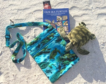 Sea Turtle Book/Nook/Kindle/iPad Bag