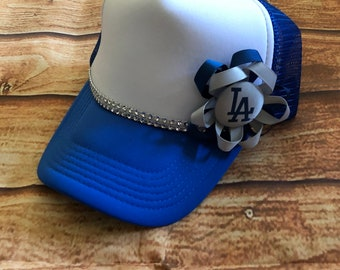 LA Dodgers Bling Bow Trucker Hat