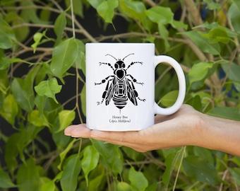 KillerBeeMoto:  Beekeepers   Coffee Mug Apis Mellifera Honey Bee Graphic
