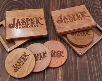 Game Table Coasters and Dice Tray