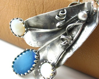 Open Up Necklace - Boulder Opal and Sterling