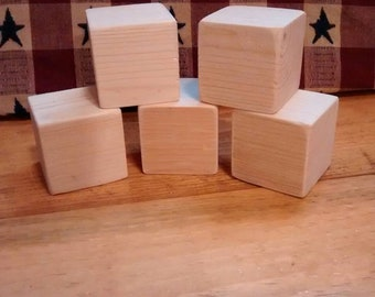 "1.5"" unfinished blocks, wooden blocks, craft blocks, baby craft, handmade wooden blocks, bridal shower, pine blocks, baby shower craft."