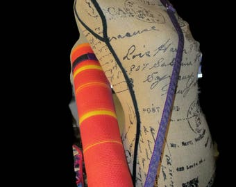 Purple Paisly Yoga Mat Strap, over the shoulder strap