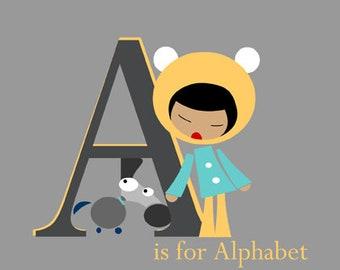A for alphabet