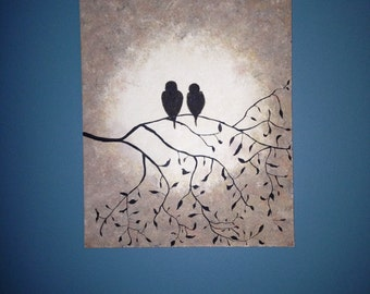 "16x20 Hand Painted Canvas-- ""Friends In A Tree"""