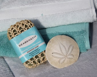 Seabenefit  Pacific Seaweed Soap Wrapped in a Loofah | Anti-cellulite Soap | Self-Massage