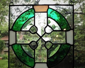 Stained Glass Celtic Cross Window Hanger