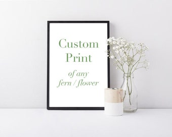 Custom Botanical Print