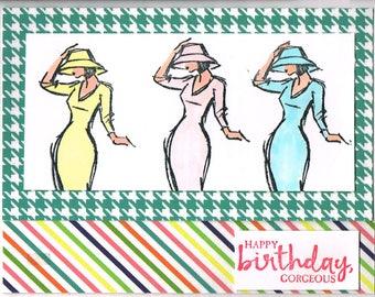 Colorful Women Happy Birthday