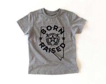 Kid, Baby, Toddler Born and Raised Nevada Graphic T-shirt