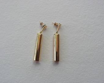 Vintage Gold Tone Dangle Earrings