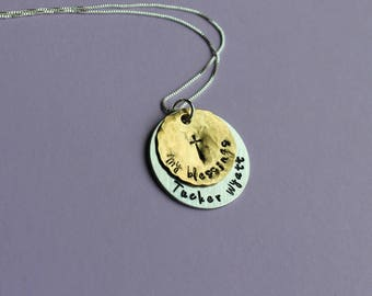 Grandmother Necklace Mother Necklace Gift for Grandma Blessings Necklace Nana Mom Necklace My Blessings