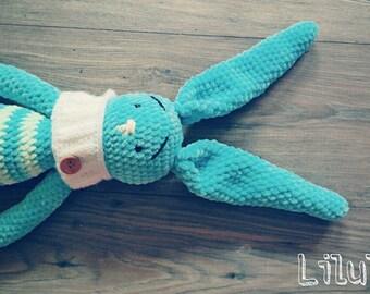 Crochet rabbit toy christmas gift baby gift cuddly soft handmade crochet toy stuffed toys