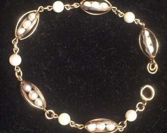 12k gold filled cultured pearl bracelet.