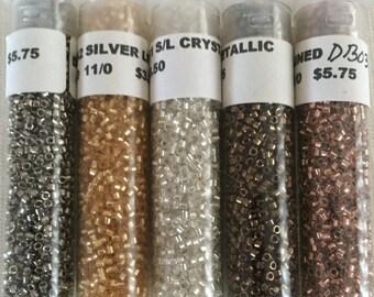 Miyuki Delica Seed Beads, 50 Grams, Size 11