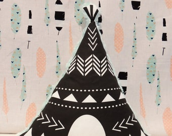 Teepee Pillow, Minky Fabric, Mint, Nursery, Baby