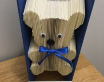 Teddy book fold pattern